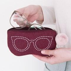 더 베이직 펠트ver.5 안경파우치