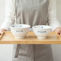 마메종 블루로즈 밥공기 국그릇 세트 Ver.3