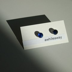 bermuda blue6 블루 크리스탈 귀걸이