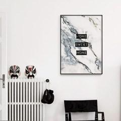 메탈 레터링 포스터 액자 마블 홈 스위트 홈