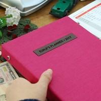 현명한소비 가치있는기록 제이로그 캐쉬북 머니플래너 바인더-핫핑크