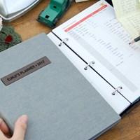 현명한소비 가치있는기록 제이로그 캐쉬북 머니플래너 바인더-그레이