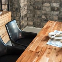 딥 아카시아 원목 4인 식탁세트(의자/벤치)_(201242925)