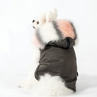 MY SWEET WINTER PARKA 마이 스윗 윈터 야상(GRAY/PINK COMBI)