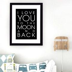 타이포 moon 캔버스 포스터