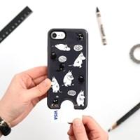 Moomin iPhone 7 카드 프로텍트 케이스