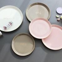 [쓰임] 소울 핑크 원형접시(소)