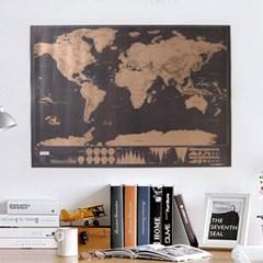 DIY 스크래치 블랙 세계지도 -독도는 우리땅 에디션