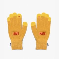 LOVE HATE SMART GLOVE (MUSTARD)