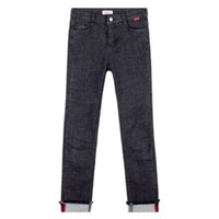 Heart Roll Up Denim Pants (2colors)