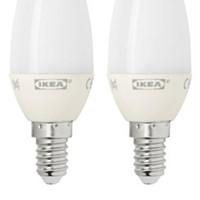 이케아 RYET LED 전구 2p (E14/200루멘)_(701154622)