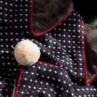 크로스 스티치 담요 (2 size) - 2color