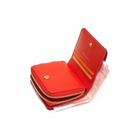 SMALL ZIP AROUND WALLET KATE + LEATHER B STRAP CARD WALLET SET
