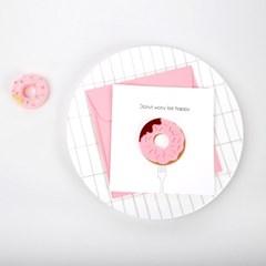도넛워리비해피 펠트카드