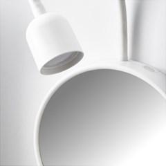 이케아 BLAVIK LED 벽부착등+거울 (배터리식)_(701183795)