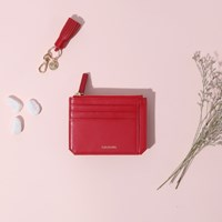 [태슬증정][살랑]Dijon M201 Flap mini Card Wallet cherry red