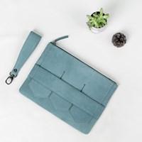 Modern fringe clutch bag _Black