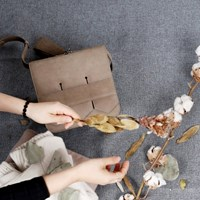 Modern fringe mini bag _Black