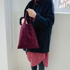 Corduroy Tote Bag (WINE)