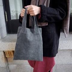 Corduroy Tote Bag (GRAY)