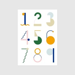 geometric numbers poster