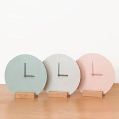 플랫클락 벽시계/ 탁상시계_ 핑크