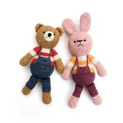 [손뜨개 DIY]손뜨개인형-우리는친구(곰,토끼)