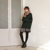Loose-fit round knit