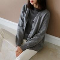 Wool basic cozy cardigan