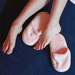 THE TOWEL SLIPPERS [PINK]
