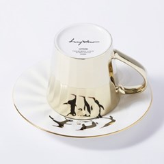 [LUYCHO] 루이초 Emperor Penguins-Tall (미러컵+컵받침SET)