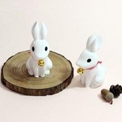 방울 토끼 석고방향제