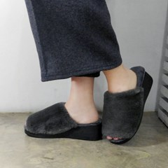 5.5cm wedge platform fur slipper_KM16w325
