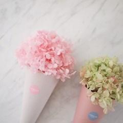 프리저브드 수국 쁘띠 콘다발 / 핑크
