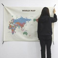 초대형 세계지도 태피스트리 / 패브릭 포스터