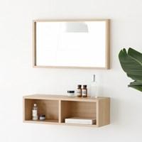모리스 벽거울+벽선반SET(M/L)