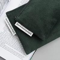 corduroy green pouch