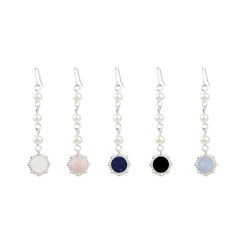 [FLOWOOM] Pearl Stone Roung Earring