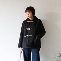 Round collar duffle jacket
