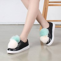 kami et muse Double color fur drop sneakers_KM16w344