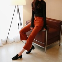 Woolen boots-cut slacks