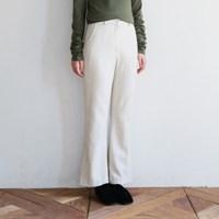 Simple woolen slacks