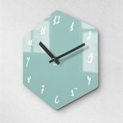 리플렉스 모던6각 캘리민트 무소음벽시계 CA12MT_(1340702)