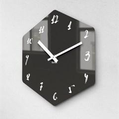 리플렉스 모던6각 캘리블랙 무소음벽시계 CA12BK_(1340701)