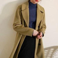 Wool classic double button coat