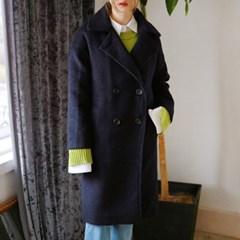 Cozy boucle double button coat
