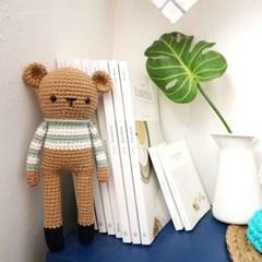 [손뜨개DIY] 코바늘 곰양과 토끼군 인형 만들기 kit