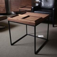 [퍼니매스] Walnut Tray Sofa Table (월넛 트레이 소파테이블)