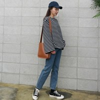 Boxy stripe tee