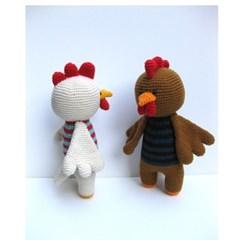 [손뜨개 DIY]손뜨개인형-꼬꼬댁꼬끼오-닭인형